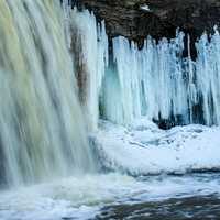 Frozen Falls Landscape at Wequiock Falls, Wisconsin Free Stock Photo
