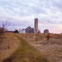 Landscape with Farm and Silo in the distance at Fonferek Glen, Wisconsin Free Stock Photo