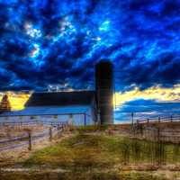 Splendid Skies and Landscapes with Barn and Silo at Fonferek Glen, Wisconsin