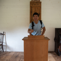 Asian Man standing on the podium