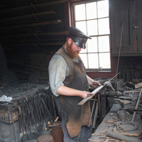 Blacksmith at work at Old World Wisconsin