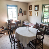 Dining room setup in Old World Wisconsin