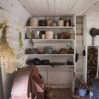 Kitchen and Pots cabinet in Norwegian house