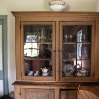 Kitchen China in Cabinet