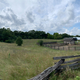 Panoramic view of sky and farms at Old World Wisconsin