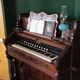 Piano with music sheets on stand
