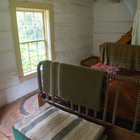 Small Bedroom by the stairs in Old World Wisconsin