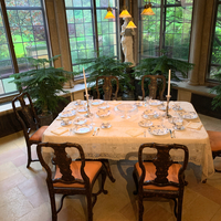 Dining Room table set in Mansion