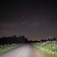 Stars above the hiking path at Meadow Valley State Wildlife Area