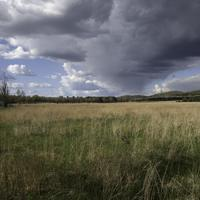 Storm Clouds over the landscape at Quincy Bluff, Wisconsin
