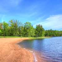 lakeshore at Pattison State Park, Wisconsin
