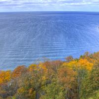 Fall along the shore at Peninsula State Park, Wisconsin