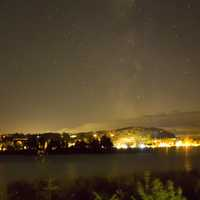 Galaxy above the town at Peninsula State Park, Wisconsin