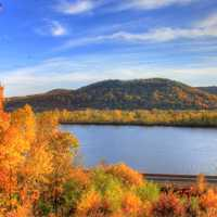 Autumn across the Mississippi at Perrot State Park, Wisconsin