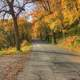 Autumn landscape on the roadways at Perrot State Park, Wisconsin