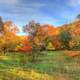 Great colorful autumn landscape at Perrot State Park, Wisconsin