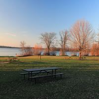 Lake and Picnic Area at Pike Lake State Park, Wisconsin