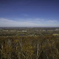 Autumn Trees and Wide Angle Landscape at Rib Mountain State Park