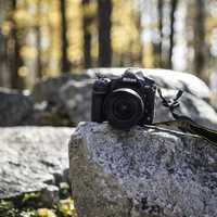 Nikon 850 on a rock at Rib Mountain