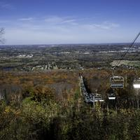 Ski Lifts during the fall and landscape at Rib Mountain State Park
