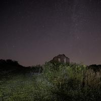 Galaxy over the Ruined House