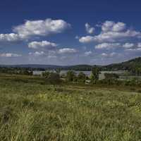 Grassland and Wisconsin River Landscape