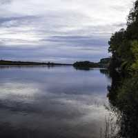 Landscape and waters of the Wisconsin River at Ferry Bluff