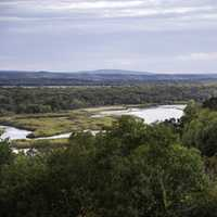 Landscape of the river and valley at Ferry Bluff, Wisconsin