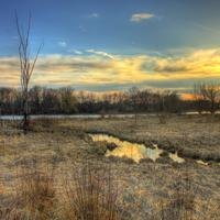 Landscapes of the Marsh and Sky at Beckman Mill, Wisconsin