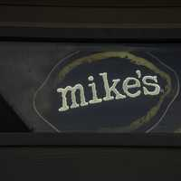 Mike's Hard Liquor sign in the Window