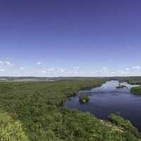 Overlook Panorama of the Wisconsin River at Ferry Bluff