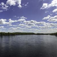Panorama of the Wisconsin River in Sauk City