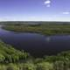 Panoramic Bend in the Wisconsin River at Ferry Bluff, Wisconsin