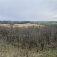Panoramic View of Magnolia Bluff in Southern Wisconsin