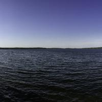 Panoramic view of Rock Lake from the Bike trail in Lake Mills, Wisconsin