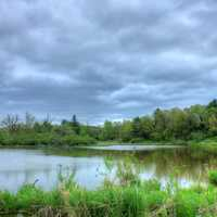Water and clouds at Kickapoo Valley Reserve, Wisconsin