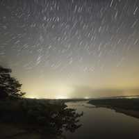 Star Trails above the Wisconsin River