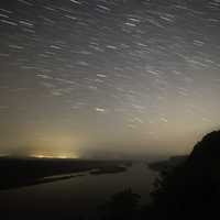 Star Trails above the Wisconsin Valley