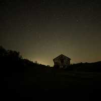 Stars over an old house