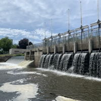 Udey Dam in Columbus, Wisconsin