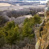Kids sitting on the Cliff at Gibraltar Rock, Wisconsin, Free Stock Photo
