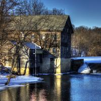 Close-up View of the Mill at Elba, Wisconsin