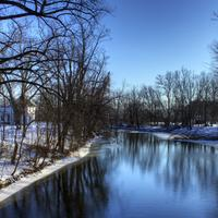 Winter on the Crawfish River near Elba, Wisconsin