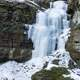 Frozen Waterfalls at Parfrey's Glen, Wisconsin -- Free Stock Photo