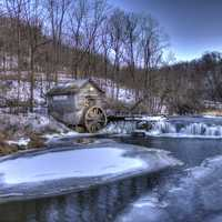 Great winter landscape at Hyde's Mill, Wisconsin