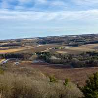Landscape View from the Top of Gibraltar Rock, Wisconsin Free Stock Photo