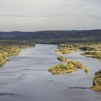 Wisconsin River Landscape Overview from Ferry Bluff