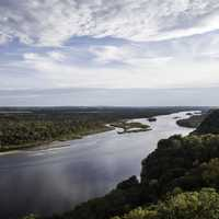 Wisconsin River Valley Landscape at Ferry Bluff