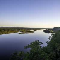 Wisconsin River Valley scenic  landscape