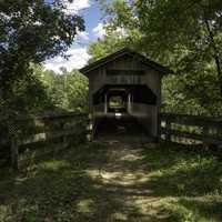 Covered Bridge along Sugar River State Trail